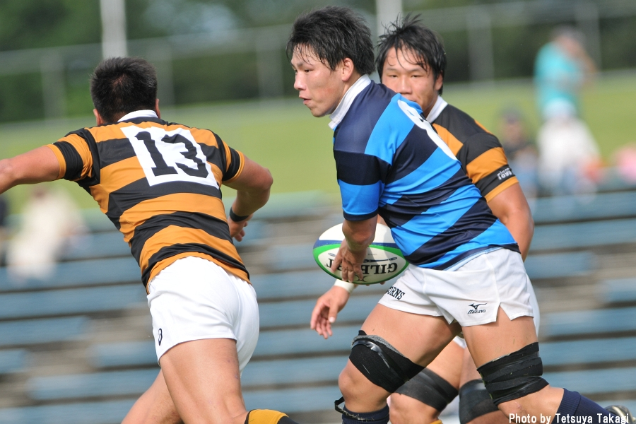 大学ラグビー対抗戦:慶応義塾大vs日体大