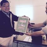 常総ジュニアラグビーフットボール様へ 鈴木スクール部会委員長より寄付金をお贈りしました