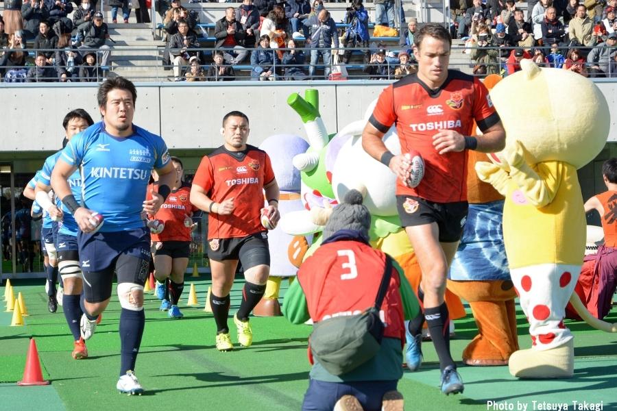 ジャパンラグビートップリーグ2017-2018 第12節 東芝ブレイブルーパスvs近鉄ライナーズ